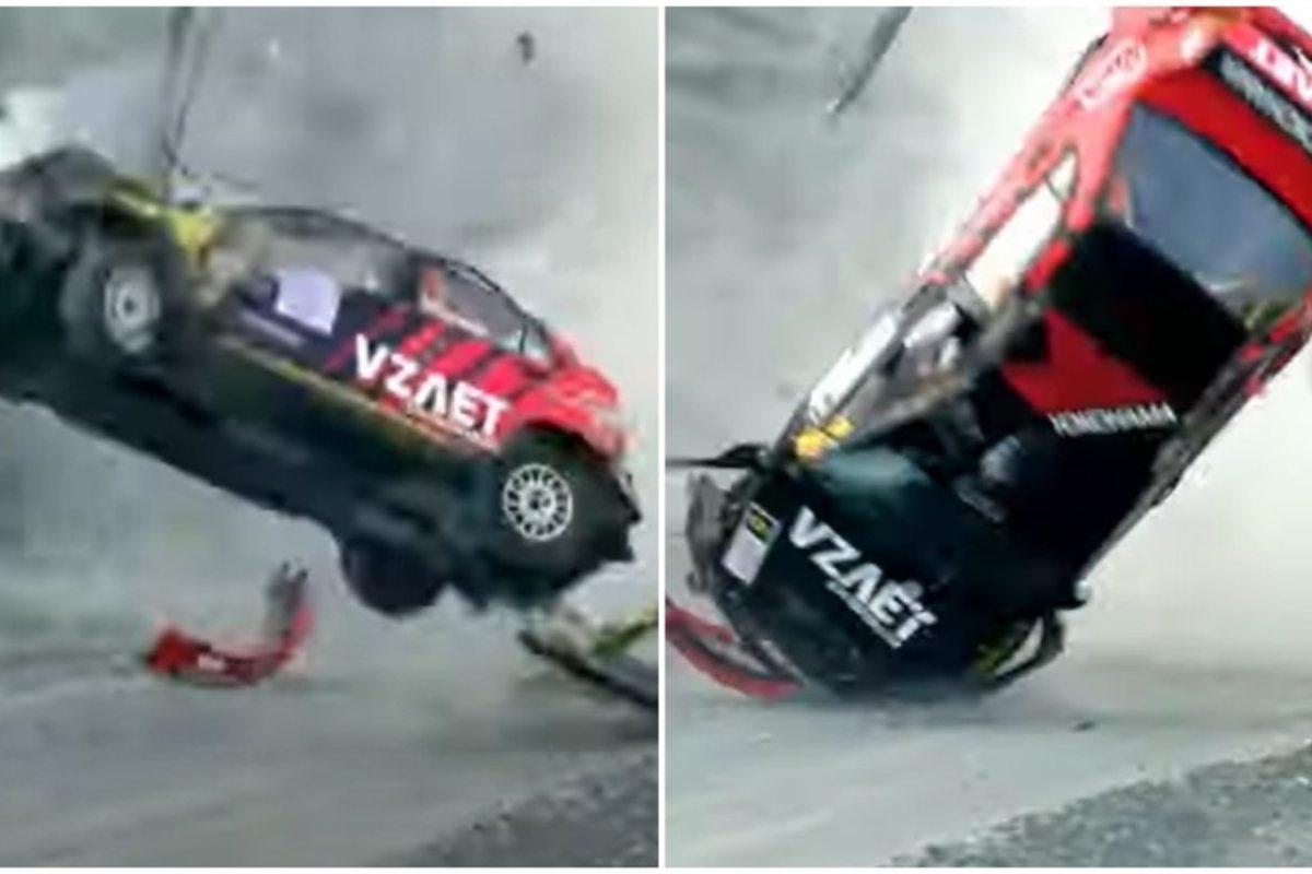 L'incidente nel rally