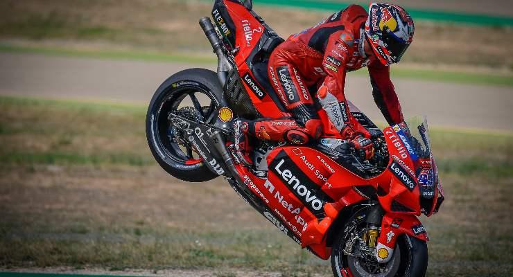Jack Miller in pista sulla Ducati al Gran Premio di Aragona di MotoGP 2021 ad Alcaniz
