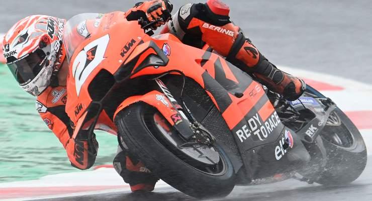 Iker Lecuona in pista sulla Ktm durante le prove libere del Gran Premio di San Marino di MotoGP 2021 a Misano Adriatico