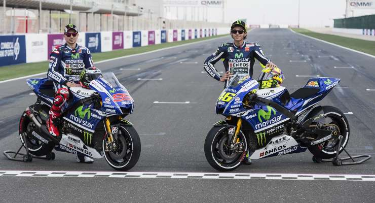 Valentino Rossi e Jorge Lorenzo