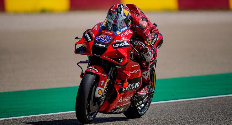 Jack Miller in pista nelle prove libere del Gran Premio di Aragon di MotoGP 2021 ad Alcaniz