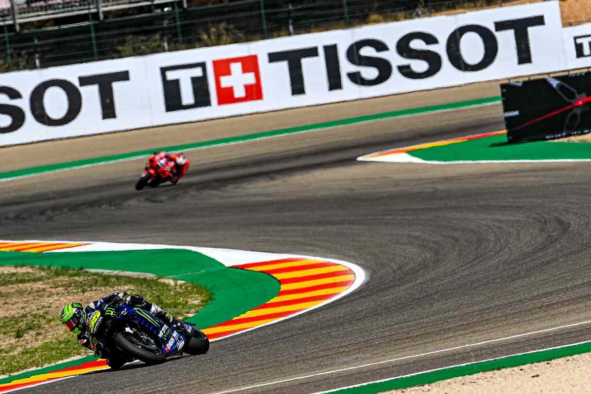 Una fase del Gran Premio di Aragon di MotoGP 2021 ad Alcaniz