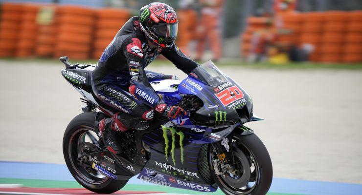 Fabio Quartararo in pista durante il Gran Premio di San Marino a Misano Adriatico