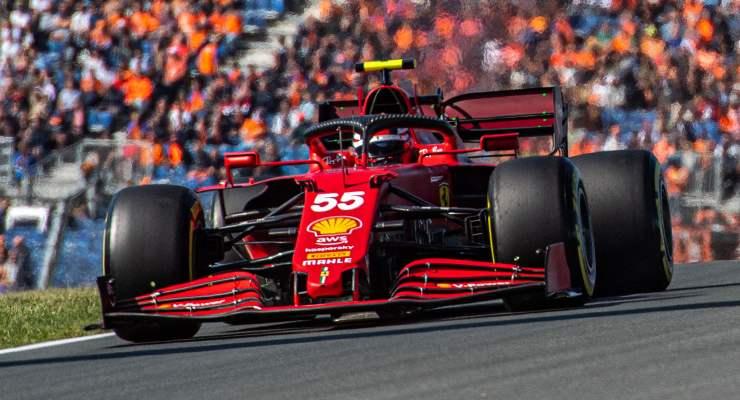 Carlos Sainz in pista al Gran Premio d'Olanda di F1 2021 a Zandvoort