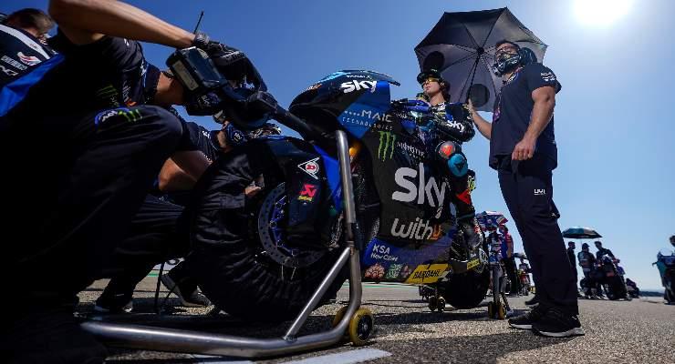La moto del team Sky VR46 in Moto2
