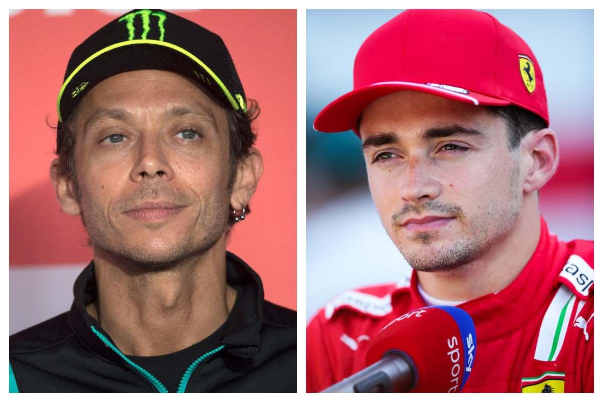 Valentino Rossi e Charles Leclerc