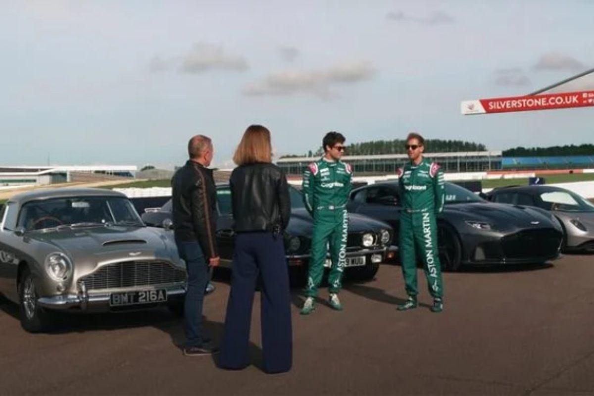 Sebastian Vettel e Lance Stroll nei panni di James Bond 007