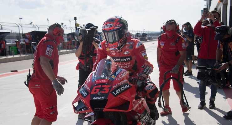 Bagnaia al box Ducati (Foto di Mirco Lazzari gp/Getty Images)