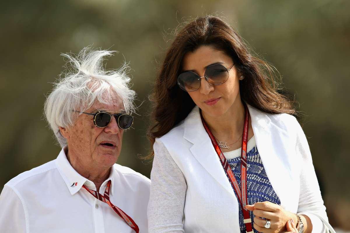 Bernie Ecclestone con sua moglie Fabiana