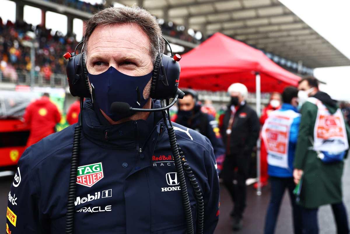 Il team principal Christian Horner sulla griglia di partenza del Gran Premio di Turchia di F1 2021 a Istanbul