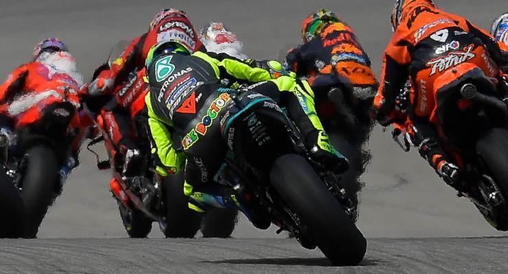 Valentino Rossi in pista sulla Yamaha Petronas al Gran Premio delle Americhe di MotoGP 2021 ad Austin